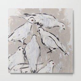 Palomas pigeons Metal Print