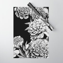 FLOWERS IN BLACK AND WHITE Wrapping Paper