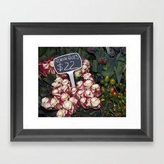 Red Premium Roses Framed Art Print