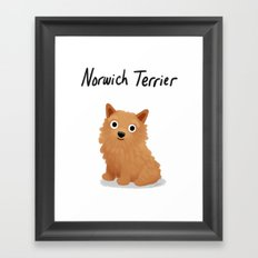 Norwich Terrier - Cute Dog Series Framed Art Print