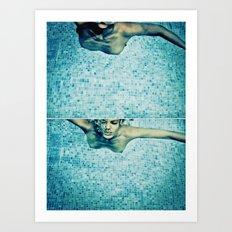 underwater pool Art Print