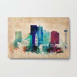 Denver Vintage skyline Metal Print