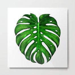 Monstera Leaf Paintings Metal Print