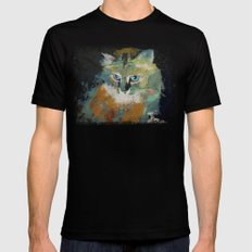Himalayan Cat Mens Fitted Tee Black MEDIUM