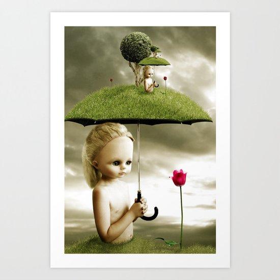 Eve's Umbrella Art Print