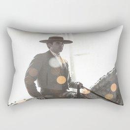 Bokeh rider Rectangular Pillow