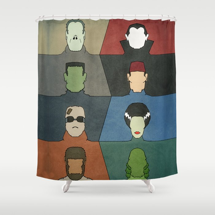 Awesome A Universal Horror Shower Curtain