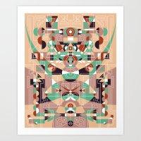 Tribal Technology 1 Art Print