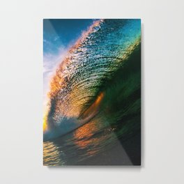 Color Water Curtain Metal Print