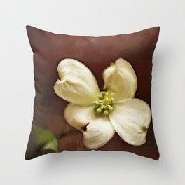 Dogwood Impression Throw Pillow