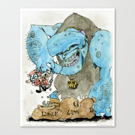 Monsters - 03 The Bully-Troll Canvas Print