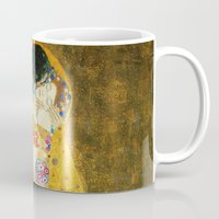 gustav klimt Mugs featuring Gustav Klimt The Kiss by Art Gallery