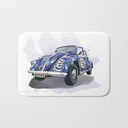 Blue old Car Bath Mat