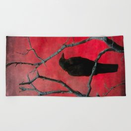 The Color Red Beach Towel