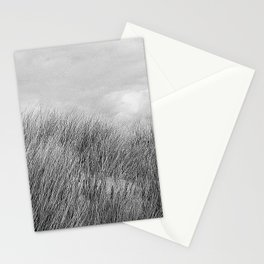 Beach grass - black and white Stationery Cards