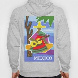 Vintage Mexico Vihuela Travel Hoody