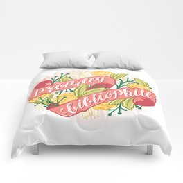 PROUDLY BIBLIOPHILE Comforters