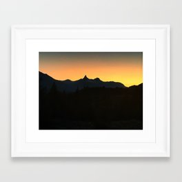Sunset Over Pilot and Index Framed Art Print