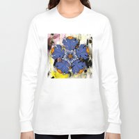 baroque Long Sleeve T-shirts featuring Baroque Flower by FakeFred