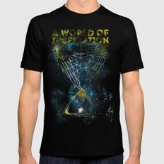 A World of Inspiration Black Mens Fitted Tee MEDIUM