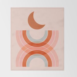 Cradle the moon - twilight Throw Blanket