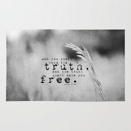 Truth Shall Make You Free John 8:32 Rug