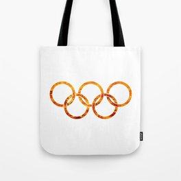 Flaming Olympic Rings Tote Bag