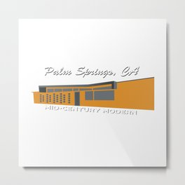 Mid-Century Modern, Palm Springs Metal Print