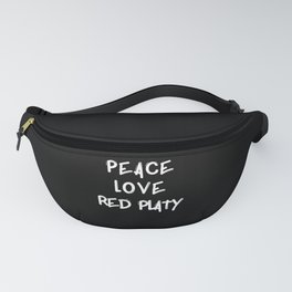 Peace love Red Platy fish gifts shirt poster fish Fanny Pack