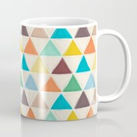 portland Mugs featuring Portland triangles by Sharon Turner