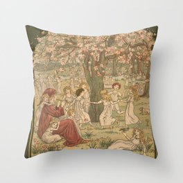 The Pied Piper of Hamelin - Robert Browning Throw Pillow