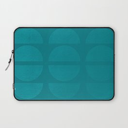 Space Beams - Green Vintage Color Shapes Laptop Sleeve