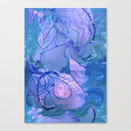 Mermaid's games Canvas Print