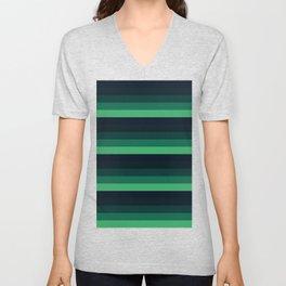 forest Green stripes Unisex V-Neck