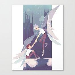 NGE - kaworu Nagisa and Shinji Ikari Canvas Print