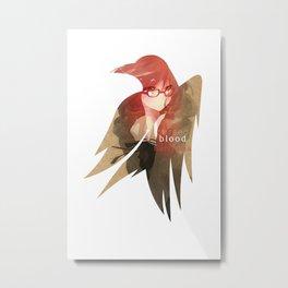 Raven's cloak cursed blood cardboard Metal Print