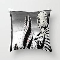dead space Throw Pillows featuring Dead Space by Averagejoeart