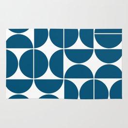 Mid Century Modern Geometric 04 Blue Rug
