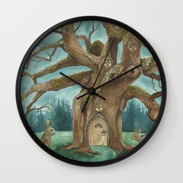 A Visit to House of Crow Wall Clock