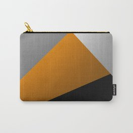 Metallic I - Abstract, geometric, metallic textured gold, silver and black metal effect artwork Carry-All Pouch