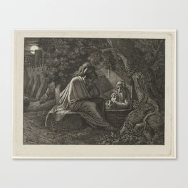 Alexander the Great visits Diogenes, Karl Russ, c. 1807 - c. 1815 Canvas Print
