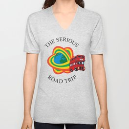 The Serious Road Trip Rainbow London Bus Logo Unisex V-Neck