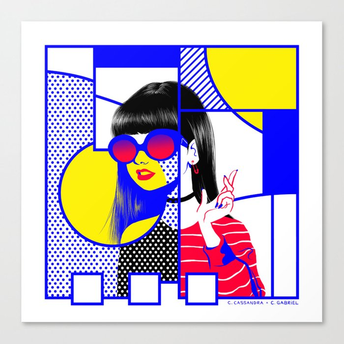 pop art (collab) Canvas Print