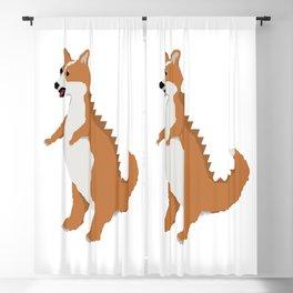 Corginnosaurus Rex Blackout Curtain