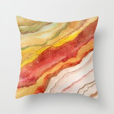 AGATE Inspired Watercolor Abstract 03 Throw Pillow