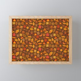 Seamless African Tribal Pattern Framed Mini Art Print