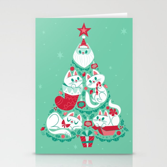 A Very Purry Christmas Stationery Cards
