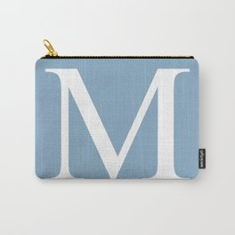 Letter M sign on placid blue background Carry-All Pouch