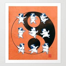 Pug Tai Chi Moves Art Print