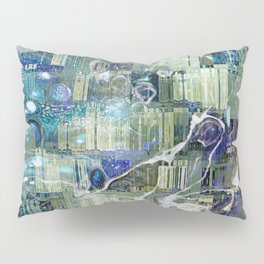 Storm In A Tea Cup Mixed Media Painting Pillow Sham